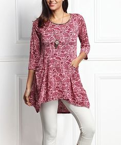 Pink Floral Pocket Tunic - Plus Too