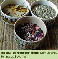 Herb mix recipes for bath (recipes/directions listed on website)