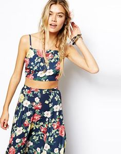 ASOS Reclaimed Vintage Crop Top & Maxi Skirt in Floral