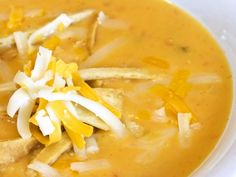A 5-star recipe for Ground Round Mexican Chicken and Tortilla Soup made with chicken breast, cheese soup, cream of chicken soup, milk, enchilada sauce, tortilla