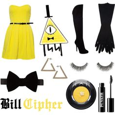 Bill Cipher by raissaspina on Polyvore featuring polyvore, fashion, style, Paprika, GUESS, Topshop, Maison Margiela, Lanvin, Lancôme and River Island