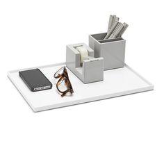 White Large Slim Tray,White