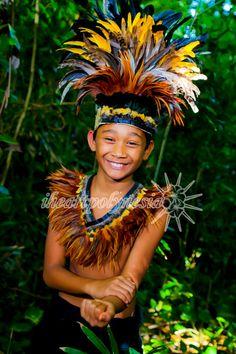 Tahitian dance costume feather neck piece