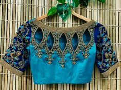 Latest 20 Bead Work Saree Blouse Designs For 2020 Blouse Back Neck Designs, Brocade Blouse Designs, Best Blouse Designs, Pattu Saree Blouse Designs, Designer Blouse Patterns, Bridal Blouse Designs, Blouse Designs Catalogue, Sari Blouse, Long Blouse