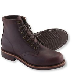 Men's Katahdin Iron Works Engineer Boots, Plain Toe: Casual Boots | Free Shipping at L.L.Bean