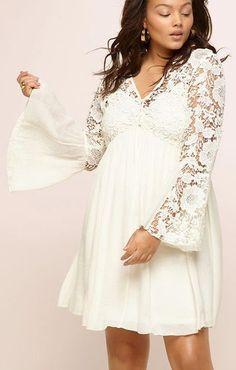 Plus Size Crochet Babydoll Dress