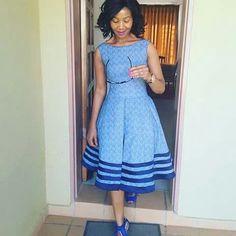 African sotho Shweshwe dresses for 2020 ⋆ Sotho Traditional Dresses, African Traditional Wedding Dress, Traditional Fashion, Traditional Outfits, Traditional African Clothing, African Fashion Designers, African Inspired Fashion, African Print Fashion, Africa Fashion