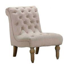 Emerald Home Furnishings Hutton Nailhead Fabric Slipper Chair