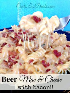 Beer Macaroni & Cheese with Bacon recipe