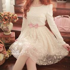 Japanese sweet lace dress