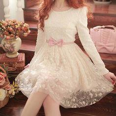 Japanese sweet lace dress