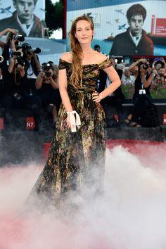 Cristiana Capotondi in Dolce&Gabbana to the 'La Rancon de la gloire' Premiere during the 71st Venice Film Festival