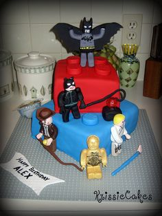 Alex's 4th Birthday Cake by KrissieCakes, via Flickr