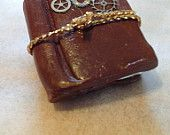 Steampunk Style Journal charm with gears