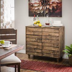 Venetian Natural Burn Finish Buffet - Overstock™ Shopping - Big Discounts on Buffets