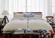 Cape Cod Beige Bedding - 100% Oxford Cotton. By Newport Collection