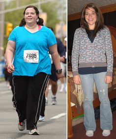 125 pounds in 16 months.  She is an amazing woman who did it through sheer determination, no odd plans or funky diets.