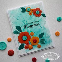 Stamped handmade cards with Watercolor background. Stamps by Paper Trey Ink and Stamplorations Watercolor Background, Hello Everyone, I Card, Color Pop, Christmas Tree, Handmade Cards, Ink, Create, Paper