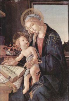 Madonna of the Book - Sandro Botticelli