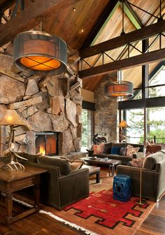 Fireplaces in Warm-Cozy Living Spaces-16-1 Kindesign ~love, love, love