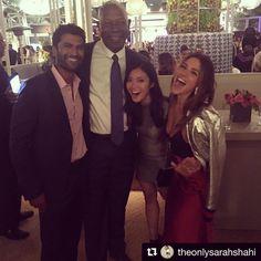 #Repost @theonlysarahshahi  ・・・  #goodtimes @sendhilfans @haysbertdennis @hijessicalu @nbcreverie #SendhilRamamurthy #SarahShahi #JessicaLu #DennisHaysbert #Reverie
