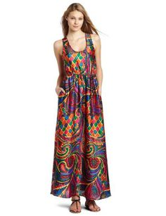 Julie Dillon Women's Printed Maxi Dress With Self Tie