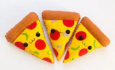 Felt Kawaii Pizza Plush