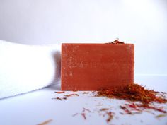 Saffron Soap with Olive Oil Handmade by SoapsbyNaturalBeauty