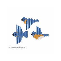 Eastern Bluebird Mini 36&7 Peyote Pattern by NaturalWondersbyCari