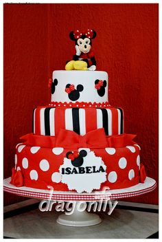 Minnie Themed Cake