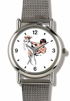 Man doing Karate or Judo No.1 Martial Arts - WATCHBUDDY® ELITE Chrome-Plated Metal Alloy Watch with Metal Mesh Strap-Size-Small ( Children's Size - Boy's Size & Girl's Size ) WatchBuddy. $79.95. Save 37%!