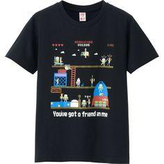 UNIQLO KIDS UTGP DISNEY PIXAR Short Sleeve Graphic T-Shirt ($10) ❤ liked on Polyvore featuring black