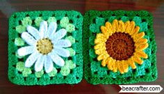SHARING IS CARING!5500060Two beautiful flowers, and both are stunning as granny squares! Here's a fantastic variation on the granny square theme, in two of our most popular flowers. And they go together quite nicely! Just imagine an afghan with the one or the other or both. Or a blanket or shawl…many possibilities. How about a …