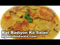 Kat Badiyon Ka Salan Recipe Video – How to Make Hyderabadi Chickpea flour Dumplings in Masala Curry - YouTube