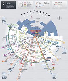 Map of Amsterdam night bus GVB network Travel Pinterest Bus