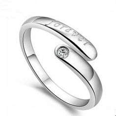2016 New arrival romantic forever letter 925 sterling silver lovers`rings promotion adjustable ring gift