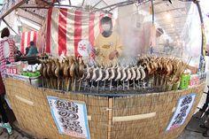 Yum! Cooked just like the way I like it. Kawazu Zakura Festival 2013- Cooked Aiyu kabob (sweet fresh water fish) Very yummy! -at the Kawazu Zakura Festival 2013by Pam S O, via Flickr