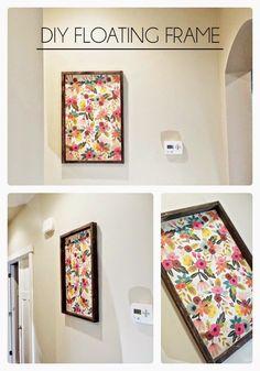 DIY Floating Frame - Made From Pinterest