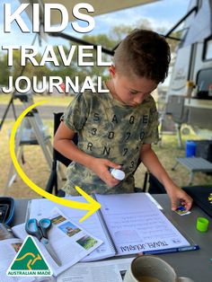 Our Australian made Travel Journals are perfect to record ALL your travelling adventures Road Trip With Kids, Travel With Kids, Kids Travel Journal, Weekends Away, Long Haul, Book Journal, Show And Tell, Ticks, Sleepover