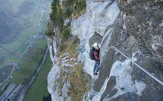 Muerren Lauterbrunnen valley via ferrata!