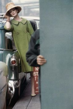 """1959 February, Untitled for """"Harper's Bazaar"""", by Saul Leiter. Museum of Fine Art, Boston, USA."""