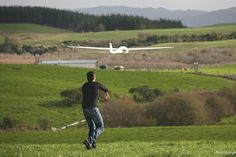 Launching the Hawkeye UAV into flight is as easy as throwing a paper airplane.