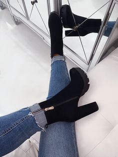 Women Boots Thigh High Wedge Boots Mens High Lace Up Boots Knee Boots – licheetal Wedge Boots, High Heel Boots, Heeled Boots, Shoe Boots, Shoes Heels, Black Heel Boots, Platform Ankle Boots, Shoes Men, Strap Heels