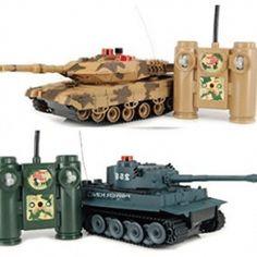 iPlay RC Battling Tanks -Set of 2 Full Size Infrared Radio Remote Control Battle Tanks - BestRC Tanks