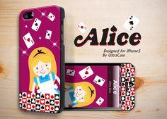 Alice Case designed for Apple iPhone 5 #alice #poker #girl #appleiphonecase #iphone5case #DesignerCase #UltraCase