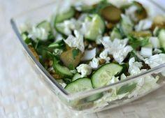 Weganie: Zielona sałatka