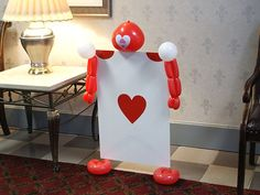 Alice in wonderland party baloon card guy