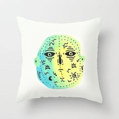 weird  Throw Pillow by Alba Blázquez - $20.00