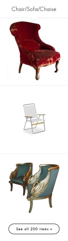"""""""Chair/Sofa/Chaise"""" by taught-to-fly19 on Polyvore featuring home, furniture, chairs, accent chairs, fillers, decor, red chair, red slipper chair, red occasional chair e red accent chair"""