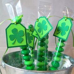 St. Patrick's Day Party Favors M&M Candy Treat by AcarrdianCards